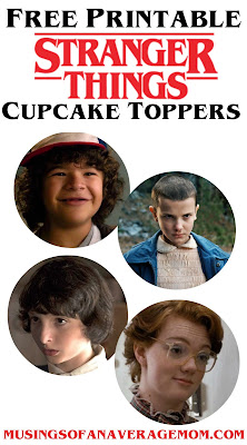 Free Stranger things cupcake toppers