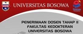 Penerimaan Dosen Fakultas Kedokteran di Universitas Bosowa Makassar