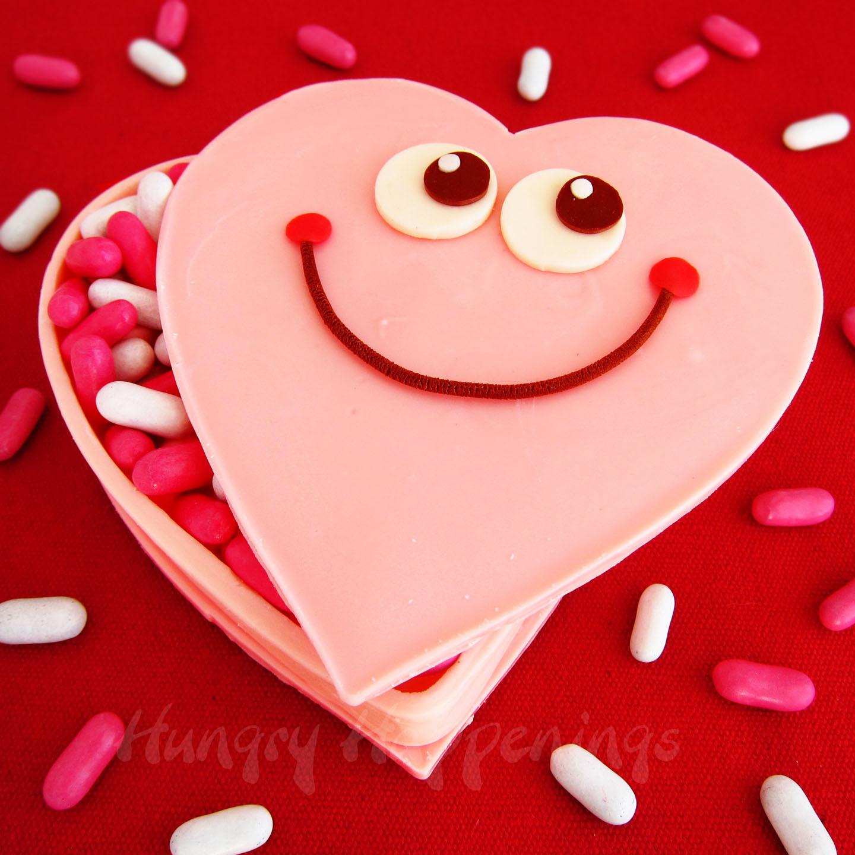 Pink Ombre Creamy Coconut Hearts