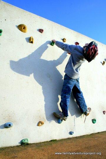 Climbing wall Morecambe Prom