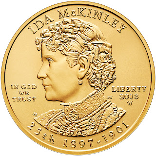 US Gold Coins Ida McKinley 10 Dollars First Spouse Gold Coin