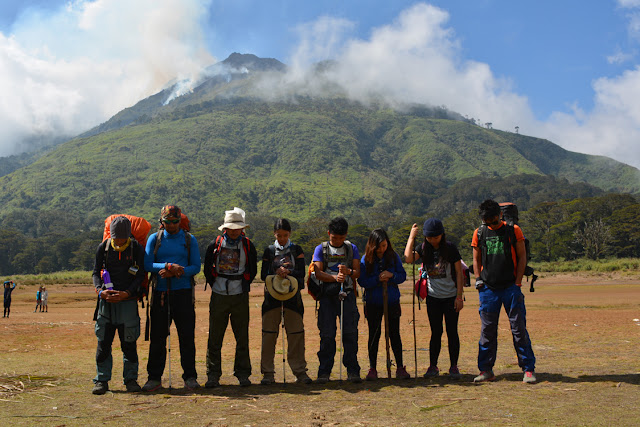 Burning Mt. Apo on the background
