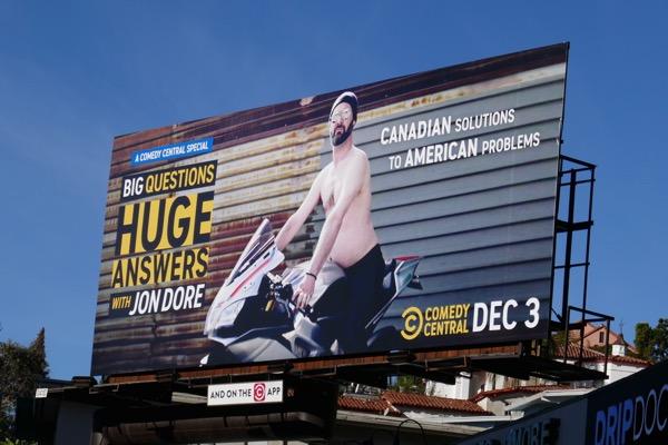 Big Questions Huge Answers Jon Dore billboard