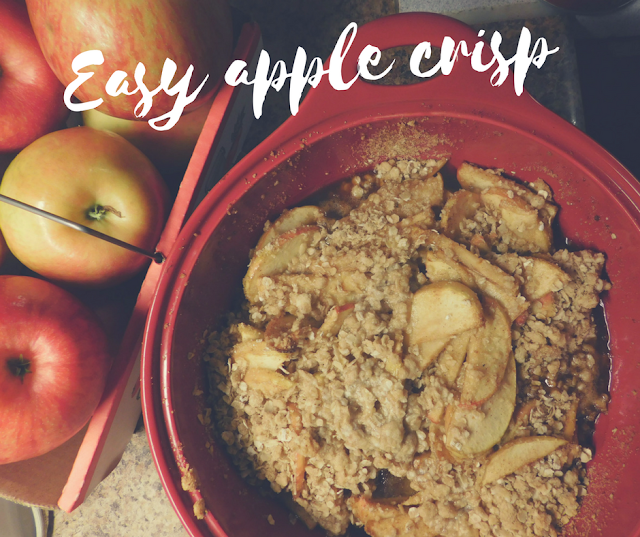 Easy, Instant Apple Crisp, the perfect recipe for fall
