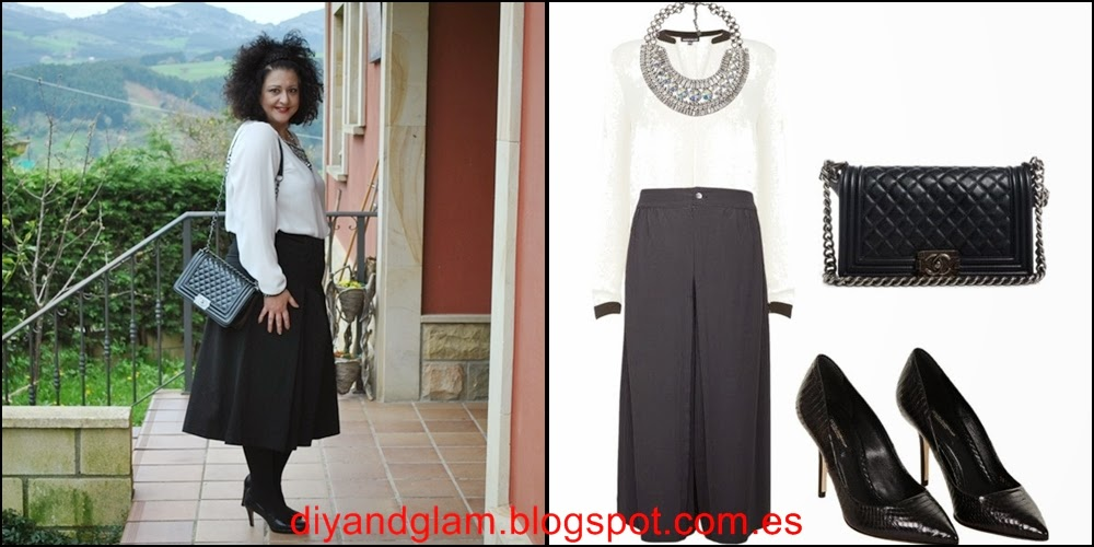 Look culotte pants