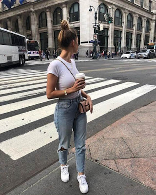 outfit casual blanco informal
