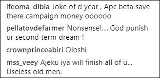 Comments against Muhammadu Buhari's 2nd term