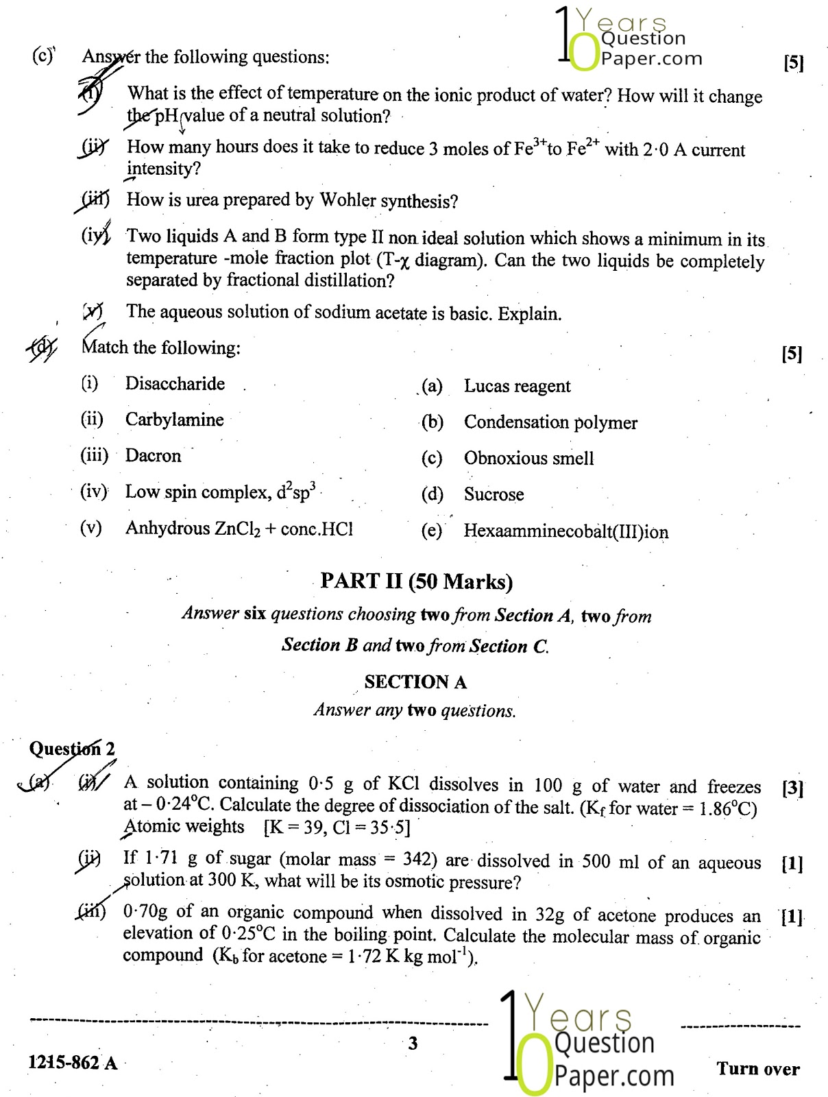 isc 2015 class 12th chemistry Theory question paper 1