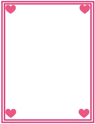 bordes de pagina de corazones, bordes para una declaracion de amor, marcos decorativos de corazones, corazones para decorar una carta