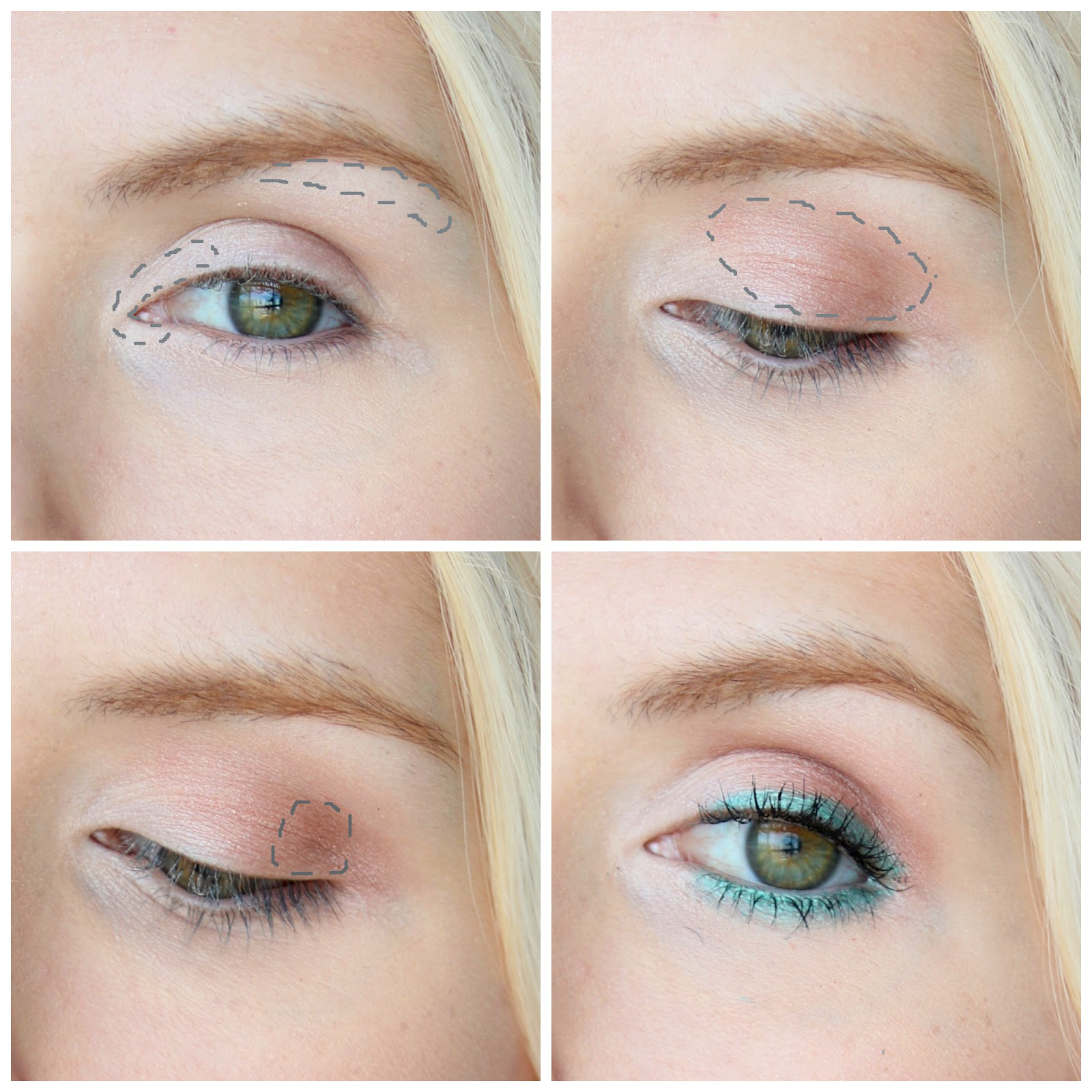Simple and easy aqua eyeliner makeup tutorial