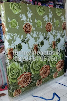 Kasur inoac motif bunga mawar hijau inoactasik