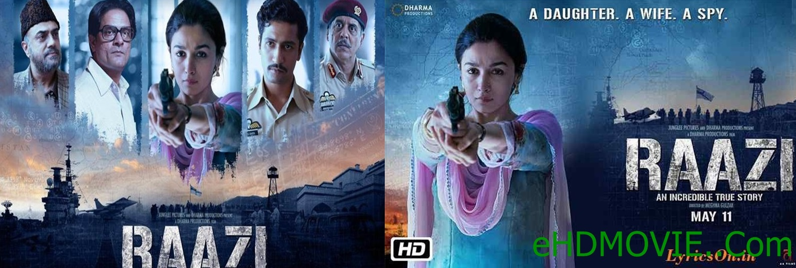 Raazi 2018 Full Movie Hindi 1080p - 720p - HEVC - 480p ORG BRRip 400MB - 550MB - 650MB - 1.1GB - 3.1GB ESubs Free Download