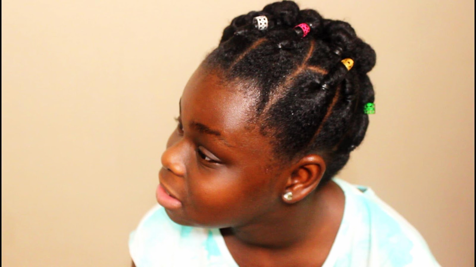 Cute Elastic Natural Hairstyles Rubber Band Protective Style Bun