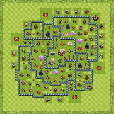 War Base Town Hall Level 11 By Bvegas (Base TH 11 Layout)