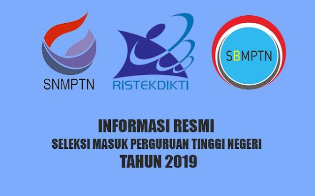 Logo Ristekdikti, SNMPTN dan SBMPTN 2019