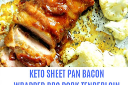 KETO SHEET PAN BACON WRAPPED BBQ PORK TENDERLOIN