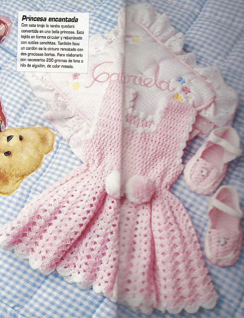 Patrón #1180: Ajuar de Bebe a Crochet