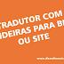 Tradutor com bandeiras para blog ou site