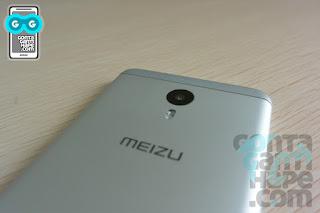 Meizu 3 Note - logo Meizu, dan set kamera