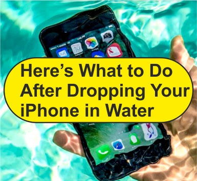 What to Do After Dropping Your iPhone in Water? iPhone dropped in water? how to fix iPhone doped in water