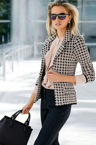 stylish look | blazer + blouse + bag + pants