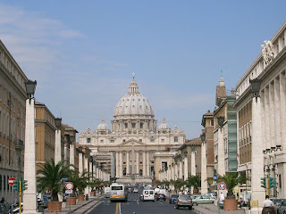 The Via della Conciliazione, looking towards the basilica of St Peter, was conceived by Mussolini