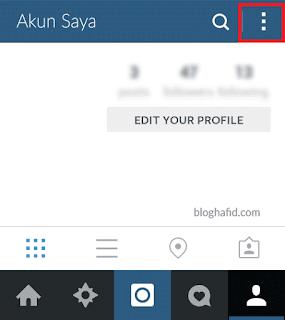 Halaman profil pada Instagram