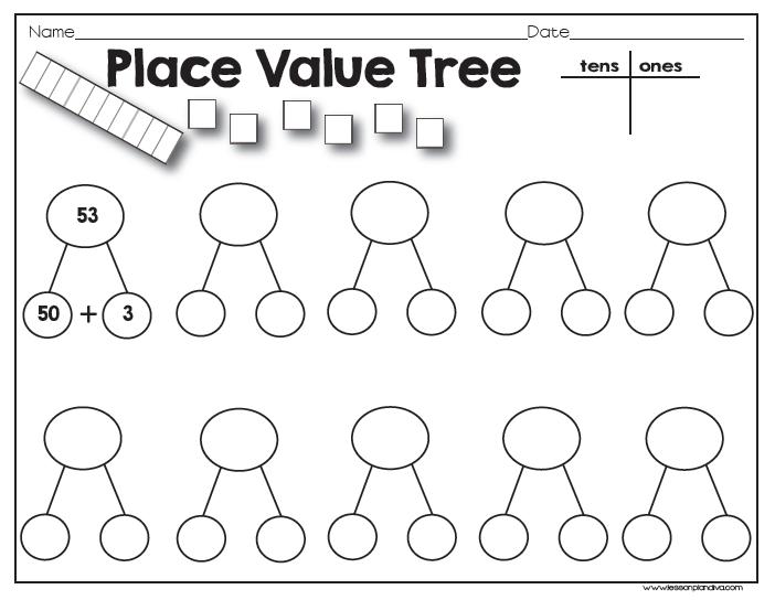 Classroom Freebies: Place Value Tree