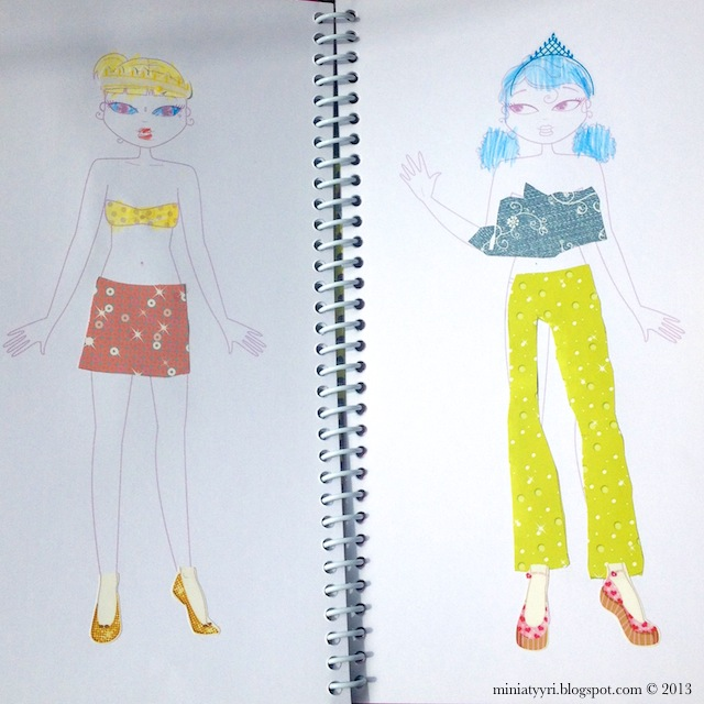 Viisivuotias lapsi muotisuunnittelijana - Five-year-old child as a fashiondesigner