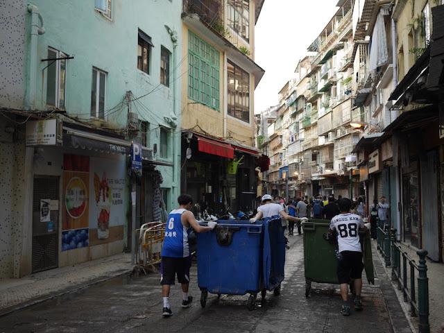 Cleanup from Typhoon Hato on Rua de Nossa Senhora do Amparo