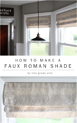 How to Make a Faux Roman Shade Tutorial
