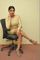 Actress Pooja Roshan Stills in Golden Short Dress at Box Movie Audio Launch  0044.JPG