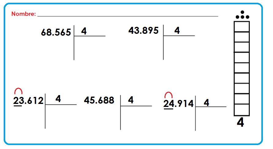 Fichas de Primaria: Escalera de la multiplicación