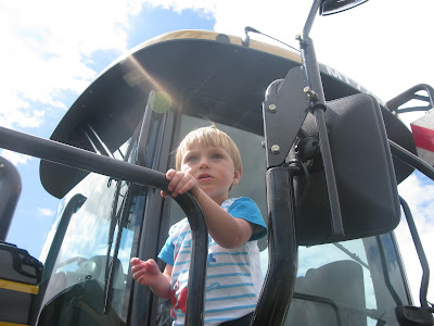 Toddler on Tractor