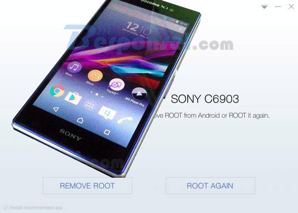 Cara Root Sony XPERIA Z1 docomo (SO-01F) dengan mudah