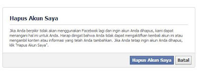 Menghapus Account Facebook Secara Permanen