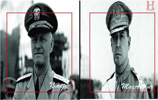 Jenderal MacArthur dan Laksamana Nimitz dalam Pertempuran Pasifik