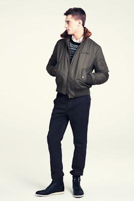 As jaquetas e casacos de inverno para homens inspirados nas militar-chic   Algumas jaquetas-piloto eb637b5ebbb19