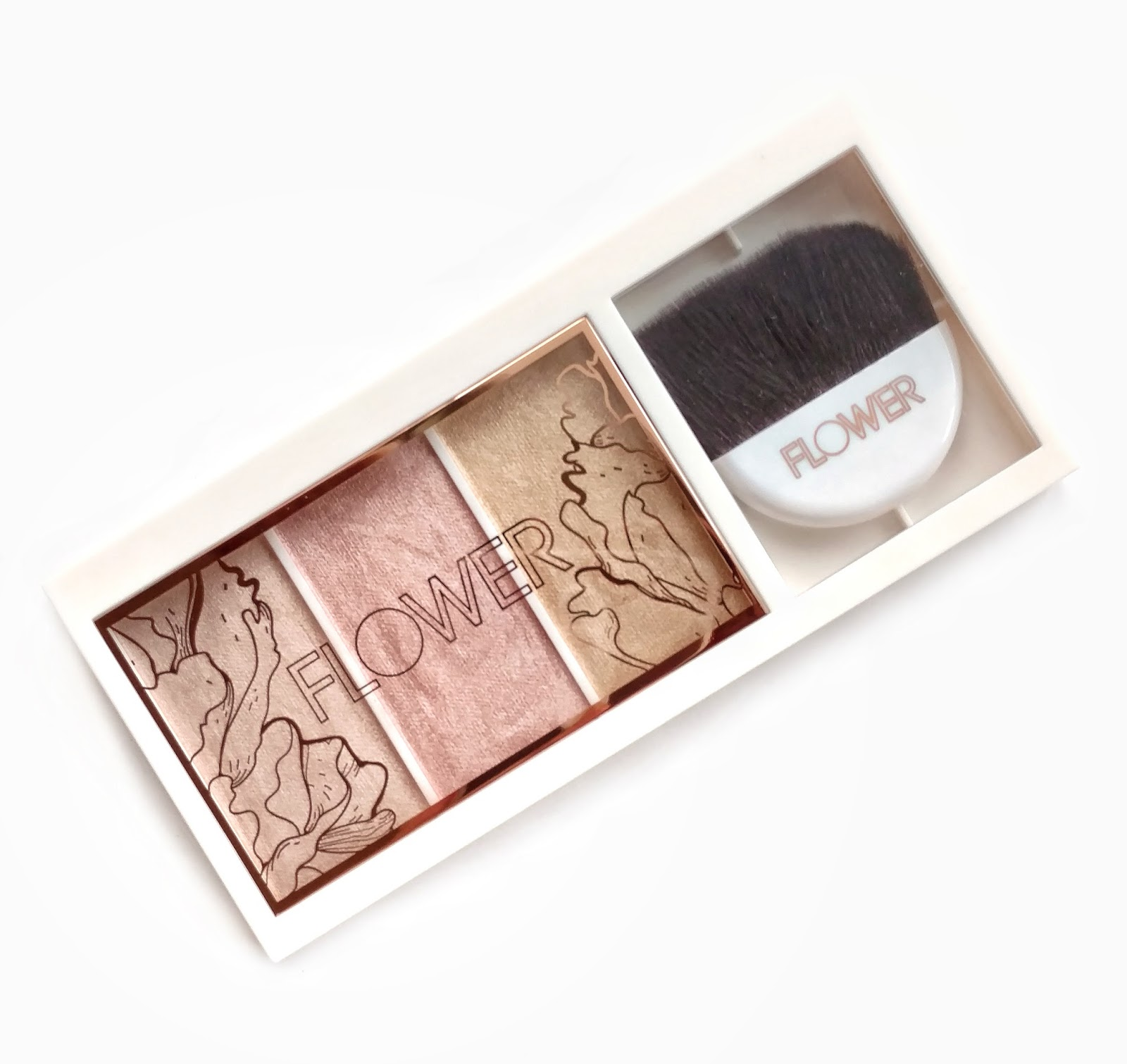 flower beauty shimmer and strobe highlighting palette