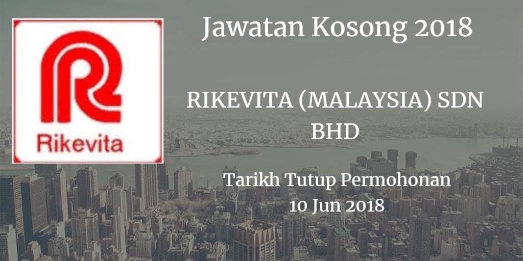 Jawatan Kosong RIKEVITA  (MALAYSIA) SDN BHD 10 Jun 2018