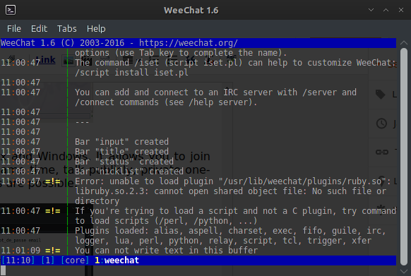IRC Clients for archlinux