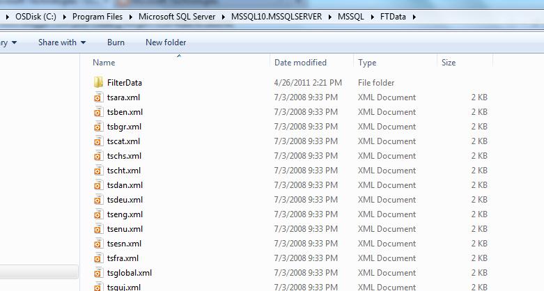 filter xml data in sql server