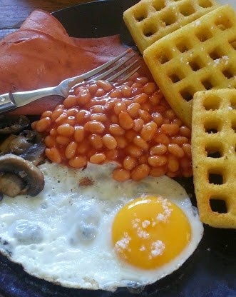 Full English veggie breakfast