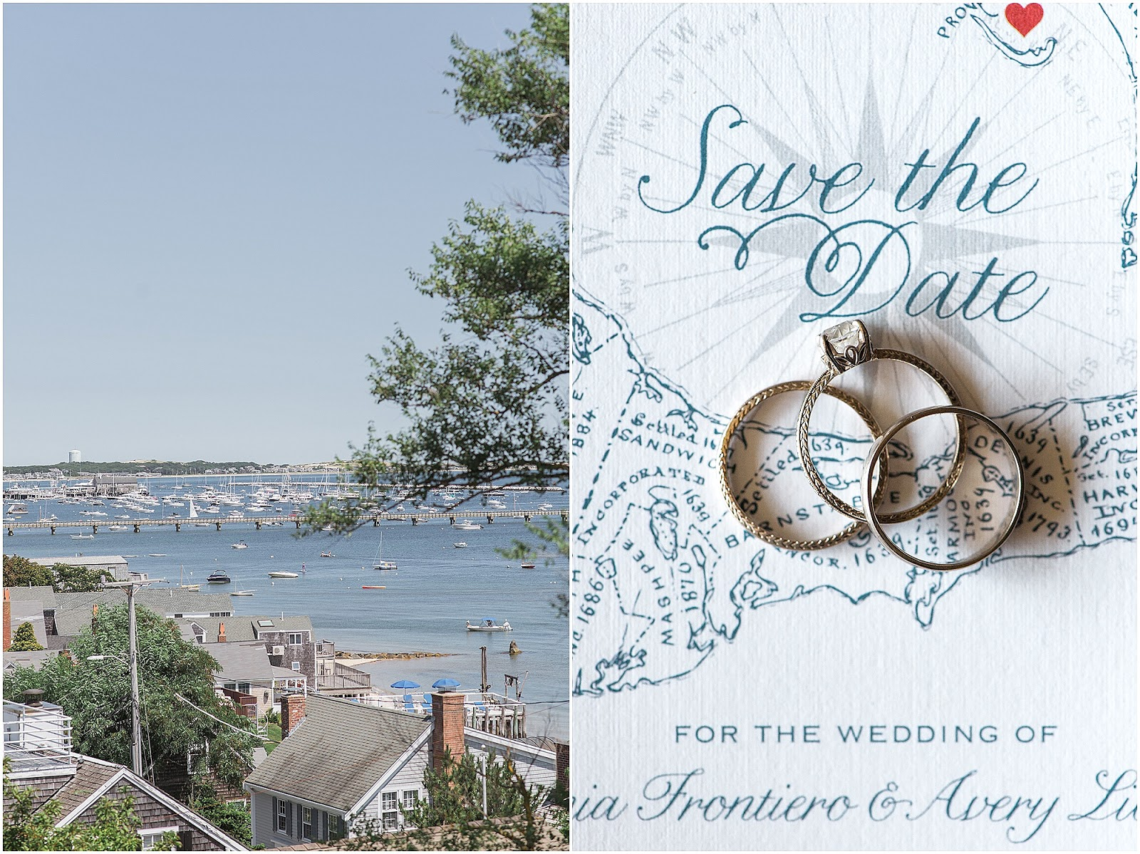Cape Cod Save the Date for a Provincetown Wedding from Eileen Meny Photography