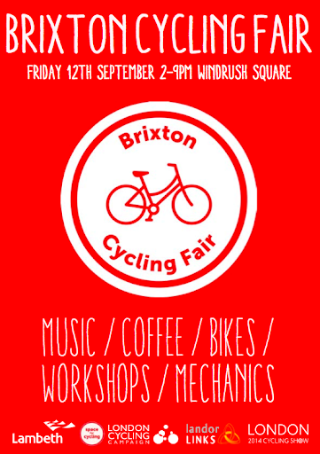 Brixton Cycle Fair flyer on lambethcyclists.org.uk