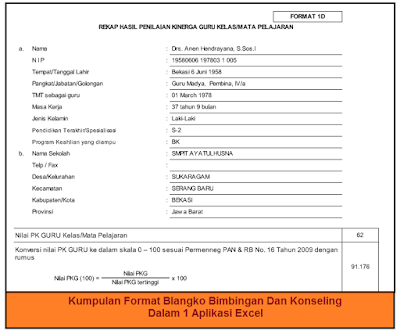 Kumpulan Format Blangko Bimbingan Dan Konseling Dalam 1 Aplikasi Excel
