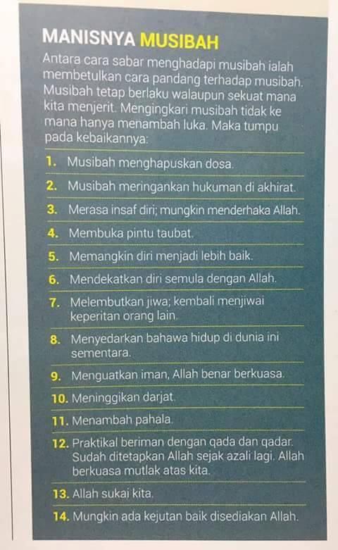 14 Kemanisan Musibah!