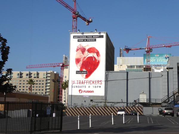 Traffickers heart organ billboard