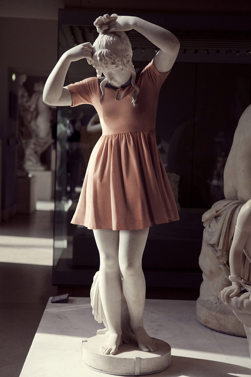 greek statues wearing clothes