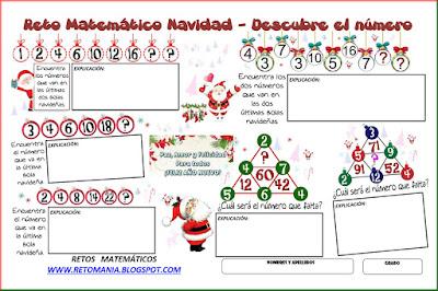 Descubre el número, El número que falta, El número oculto, Desafíos matemáticos, Problemas matemáticos, Problemas de lógica, Problemas de ingenio, Retos matemáticos, Retos matemáticos de navidad, Navidad y las matemáticas